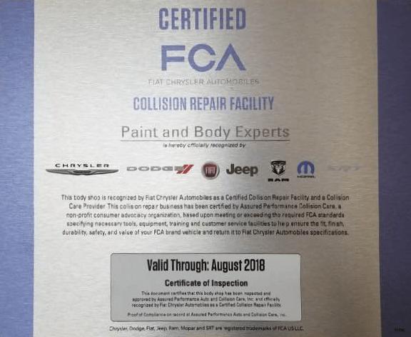 fca certified