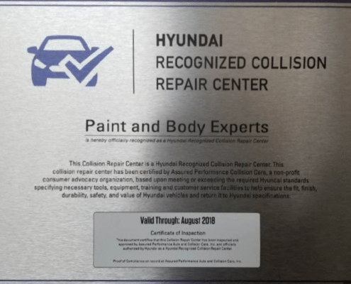 Hyundai Certified Repair Center